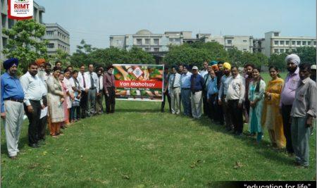 Celebration of Vanmahotsav in RIMT University