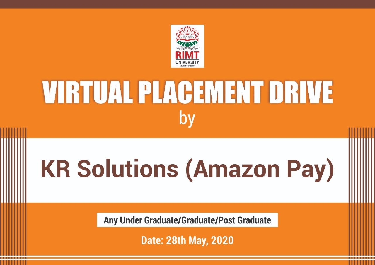 KR Solution Placement Drive at RIMT University