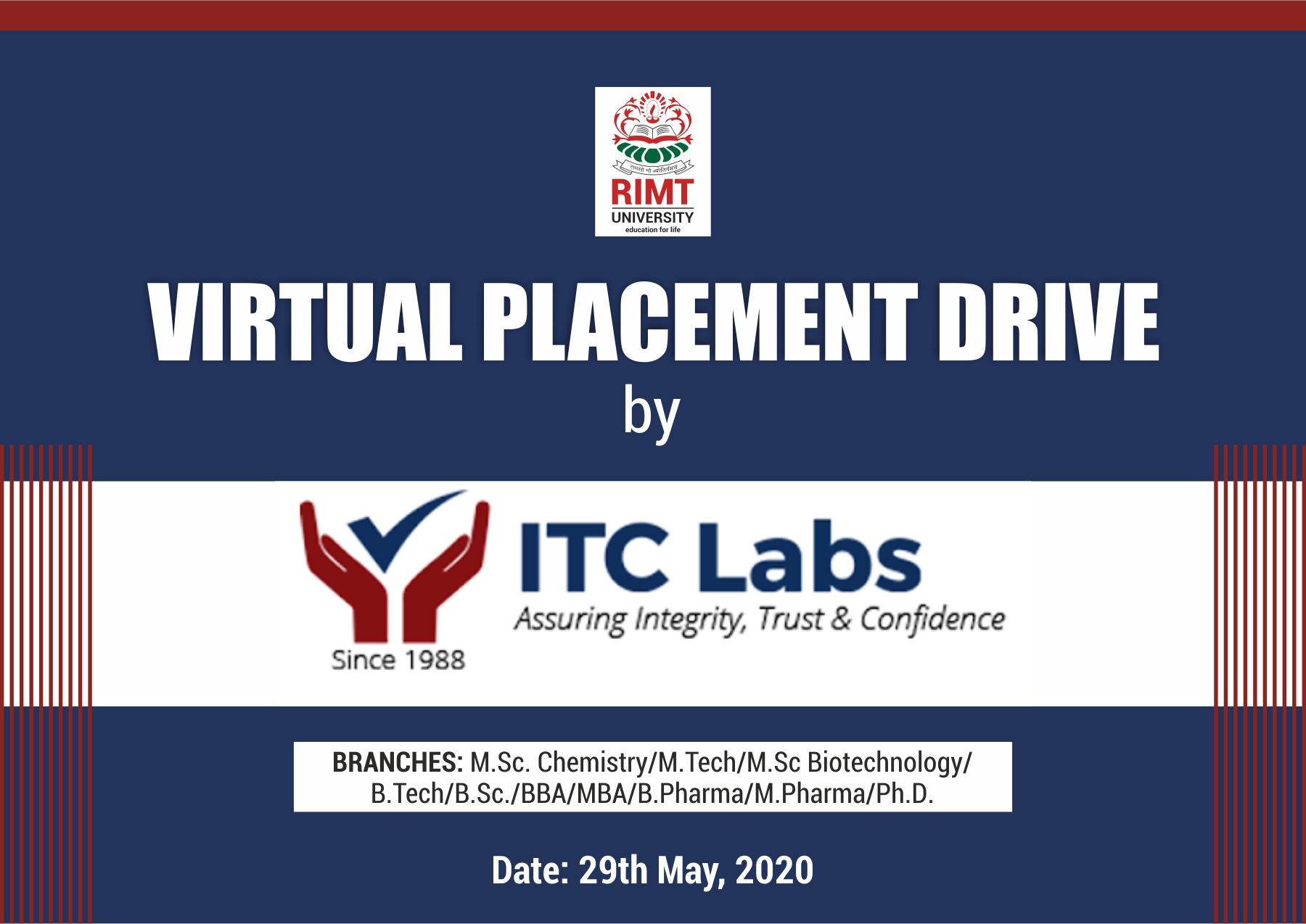 ITC Labs Placement Drive in RIMT University