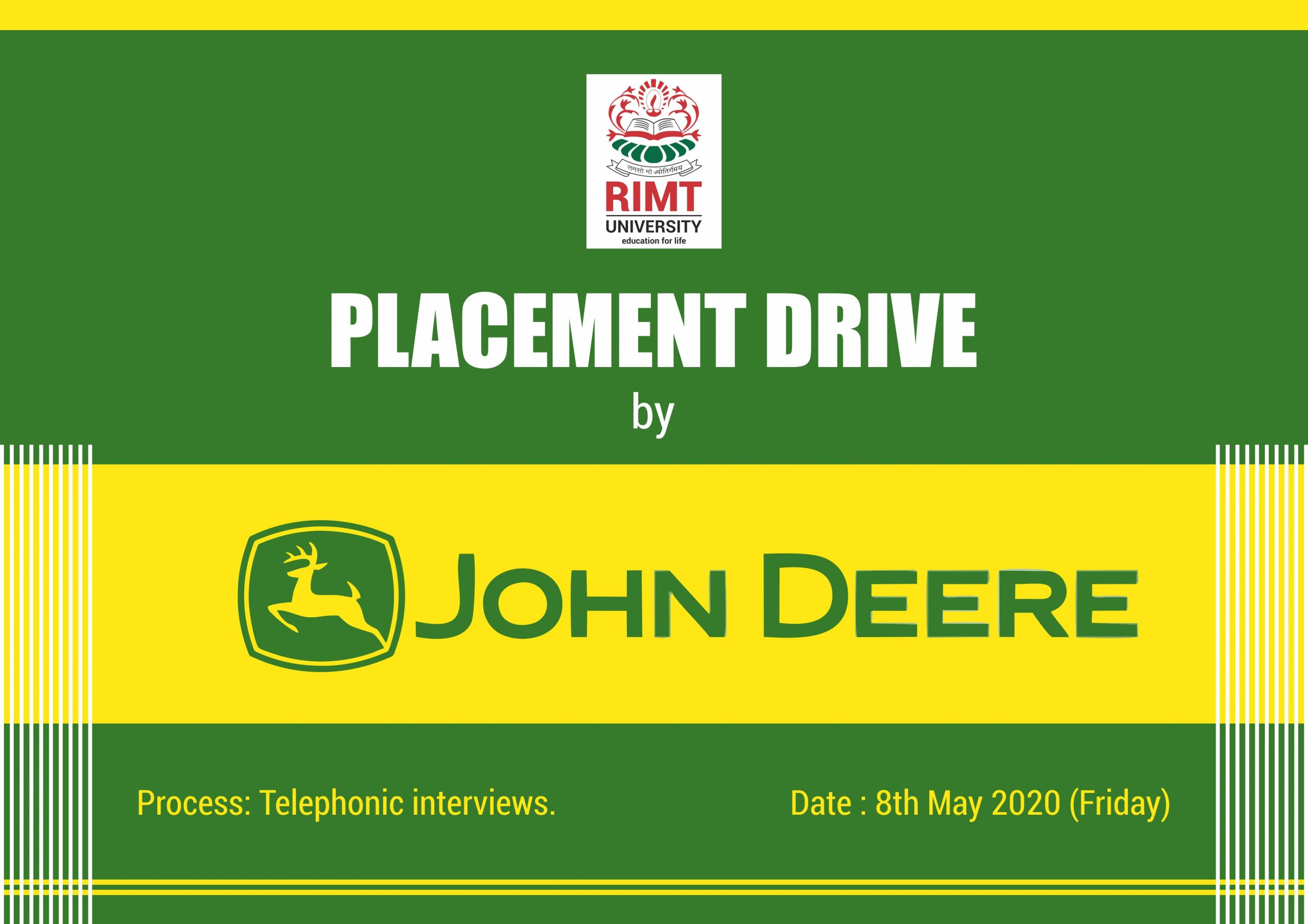 RIMT Placement drive by johndeer