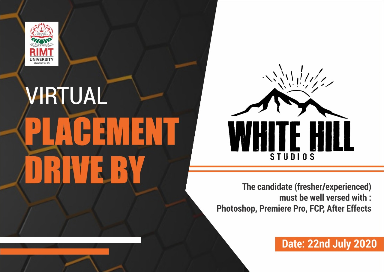 Placement drive by white hill studios in RIMT